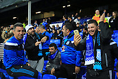 28th September 2017, Goodison Park, Liverpool, England; UEFA Europa League group stage, Everton versus Apollon Limassol; Apollon fans having a good time before kick off