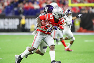 Indianapolis, IN - December 1, 2018: Ohio State Buckeyes running back Demario McCall (30) catches a pass during the Big Ten championship game between Northwestern  and Ohio State at Lucas Oil Stadium in Indianapolis, IN.   (Photo by Elliott Brown/Media Images International)