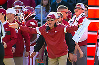 Mississippi State Bulldogs vs Arkansas Razorback - Arkansas head coach Chad Morris complaining about a call against Mississippi State at Donald W. Reynolds Stadium, Fayetteville, on Saturday, November 2, 2019 / Special to NWA Democrat Gazette David Beach