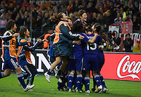 Members of the Japanese team celebrate their win following penalty kicks at  the final of the FIFA Women's World Cup at FIFA Women's World Cup Stadium in Frankfurt Germany.  Japan won the FIFA Women's World Cup on penalty kicks after tying the United States, 2-2, in extra time.