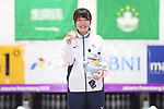 Mirai Ishimoto (JPN), <br /> AUGUST 27, 2018 - Bowling : <br /> Women's Masters Medal ceremony<br /> at Jakabaring Sport Center Bowling Center <br /> during the 2018 Jakarta Palembang Asian Games <br /> in Palembang, Indonesia. <br /> (Photo by Yohei Osada/AFLO SPORT)