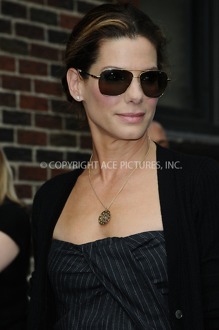WWW.ACEPIXS.COM . . . . . ....June 8 2009, New York City....Actress Sandra Bullock made an appearance at the 'Late Show with David Letterman' at the Ed Sullivan Theatre  on June 8 2009in New York City....Please byline: AJ SOKALNER - ACEPIXS.COM.. . . . . . ..Ace Pictures, Inc:  ..tel: (212) 243 8787 or (646) 769 0430..e-mail: info@acepixs.com..web: http://www.acepixs.com