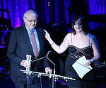 """Leonard Tow and Jenny Rachel Weiner during the Roundabout Theatre Company's 2017 Spring Gala """"Act ii: Setting the Stage for Roundabout's Future""""  presentation honoring Frank Langella and Leonard Tow at the Waldorf Astoria Hotel on February 27, 2017 in New York City."""