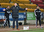 St Johnstone v Aberdeen.....07.12.13    SPFL<br /> Tommy Wright shows his frustration<br /> Picture by Graeme Hart.<br /> Copyright Perthshire Picture Agency<br /> Tel: 01738 623350  Mobile: 07990 594431