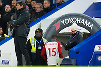 West Bromwich Albion's Daniel Sturridge goes down the tunnel after a very early substitution <br /> <br /> Photographer Craig Mercer/CameraSport<br /> <br /> The Premier League - Chelsea v West Bromwich Albion - Monday 12th February 2018 - Stamford Bridge - London<br /> <br /> World Copyright &copy; 2018 CameraSport. All rights reserved. 43 Linden Ave. Countesthorpe. Leicester. England. LE8 5PG - Tel: +44 (0) 116 277 4147 - admin@camerasport.com - www.camerasport.com