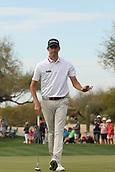 January 31st 2019, Scotsdale, Arizona, USA; Chesson Hadley acknowledges the fans after making a putt on the 9th green during the first round of the Waste Management Phoenix Open