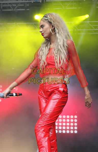 BIRMINGHAM, UNITED KINGDOM - AUGUST 30: Neon Jungle ( Jesse Plumer) performs onstage during day 1 of Fusion Festival 2014 on August 30, 2014 in Birmingham, England.<br /> CAP/ROS<br /> &copy;Steve Ross/Capital Pictures