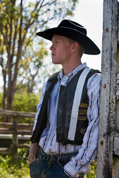 Portrait of cowboy.  Mareeba Rodeo, Mareeba, Queensland, Australia