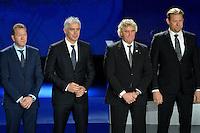 23.02.2013. Nice, France. UEFA Drawing fo the 2016 UEFA EURO Championships. Andreas Kopke, Antoni Nikopolidis, Jean Marie Pfaff, Peter Schmeichle
