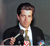 John F. Kennedy, Jr. speaks to reporters following his surprise, one hour visit with Mike Tyson at the Montgomery County Detention Center in Rockville, Maryland on March 11, 1999.<br /> Credit: Ron Sachs / CNP