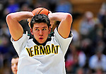 12 December 2010: University of Vermont Catamount forward/center Pat Bergmann, a Redshirt Junior from Burlington, VT, warms up prior to game action against the Marist College Red Foxes at Patrick Gymnasium in Burlington, Vermont. The Catamounts (7-2) defeated the Red Foxes  75-67 notching their 7th win of the season, and their best start since the '63-'64 season. Mandatory Credit: Ed Wolfstein Photo