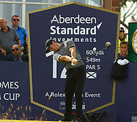 Rory McIlroy fires his drive away on 12th tee during the preview of the Aberdeen Standard Investments Scottish Open, Renaissance Club, North Berwick, East Lothian, Scotland. 11/07/2019.<br /> Picture Kevin McGlynn / Golffile.ie<br /> <br /> All photo usage must carry mandatory copyright credit (© Golffile | Kevin McGlynn)