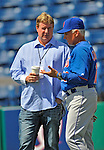 10 March 2012: Former Washington Nationals General Manager Jim Bowden watches batting practice prior to a Spring Training game against the New York Mets at Space Coast Stadium in Viera, Florida. The Nationals defeated the Mets 8-2 in Grapefruit League play. Mandatory Credit: Ed Wolfstein Photo