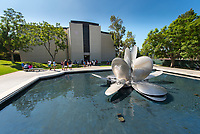 The Lucille Y. Gilman Memorial Fountain at the entrance to Occidental College, Aug. 23, 2014.<br /> (Photo by Marc Campos, Occidental College Photographer)