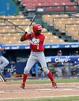 Marco Luciano participates in the MLB International Showcase at Estadio Quisqeya on February 22-23, 2017 in Santo Domingo, Dominican Republic.