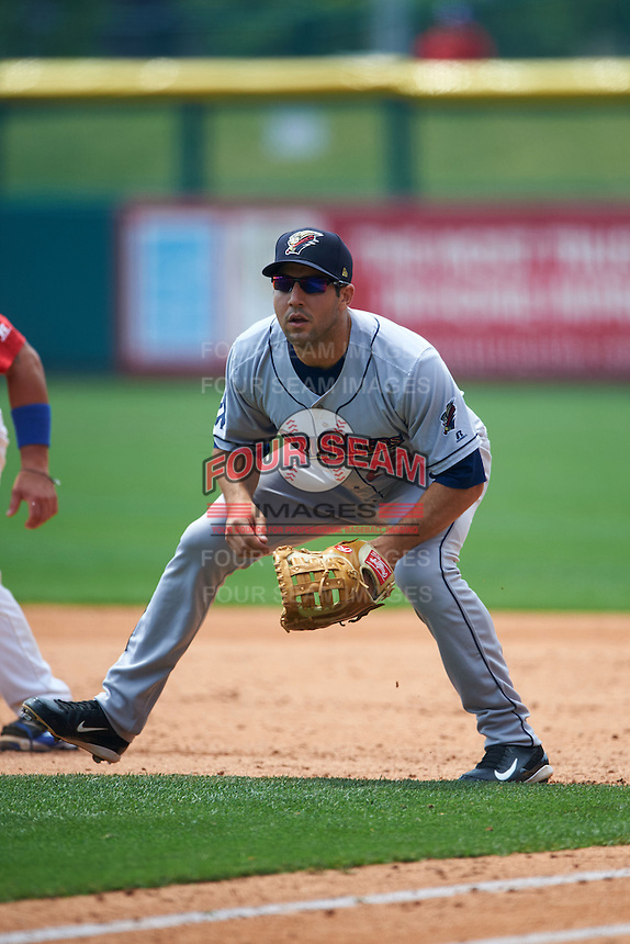 Scranton/Wilkes-Barre RailRiders first baseman Rob Segedin (26) during a game against the Buffalo Bisons on June 10, 2015 at Coca-Cola Field in Buffalo, New York.  Scranton/Wilkes-Barre defeated Buffalo 7-2.  (Mike Janes/Four Seam Images)
