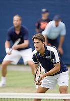 17-6-08, Rosmalen, Tennis,Ordina Open, Jesse Huta Galung (voorgrond) en  Martin Verkerk