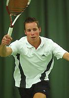 10-3-06, Netherlands, tennis, Rotterdam, National indoor junior tennis championchips, Bob Groenveld