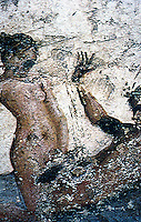 Ancient Erotica:  Brothel Fresco, Pompeii.  Photo '84.