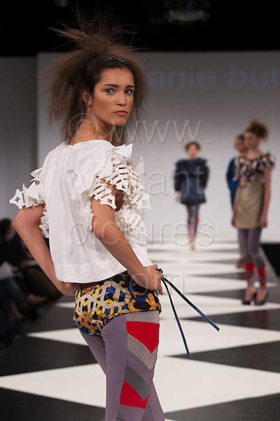 7-10 June 2009, Graduate Fashion Week 2009 - showcase of graduate students fashion collections from Northumbria University. Photo: Bettina Strenske