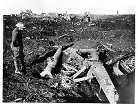 With the Canadians on the western front<br /> Description<br /> <br /> A destroyed German field gun on the Canadian front