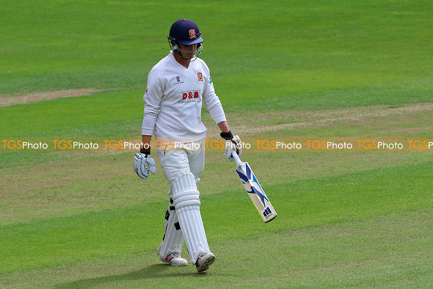 Tom Westley of Essex leaves the field having been dismissed for 80 during Glamorgan CCC vs Essex CCC, Specsavers County Championship Division 2 Cricket at the SSE SWALEC Stadium on 23rd May 2016