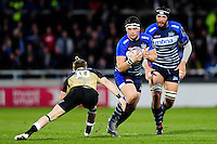 Cameron Neild of Sale Sharks in possession. European Rugby Challenge Cup quarter final, between Sale Sharks and Montpellier on April 8, 2016 at the AJ Bell Stadium in Manchester, England. Photo by: Patrick Khachfe / JMP