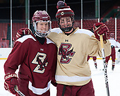 Julius Mattila (BC - 26), Zach Walker (BC - 14) - The Boston College Eagles practiced at Fenway on Friday, January 6, 2017, in Boston, Massachusetts.