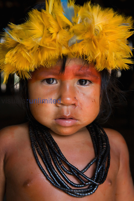 Young Xingu Indian, Amazon Basin, Brazil.