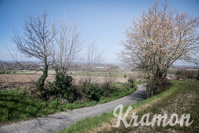 An empty Oude Kwaremont on the Ronde van Vlaanderen race day<br /> <br /> Due to the international pandemic caused by the coronavirus COVID-19, the 104th Ronde van Vlaanderen, like all other Spring Classics in 2020, was canceled which left the race roads (as the rest of the country in lockdown) eerily empty on (what was the original) race day…<br /> <br /> (was supposed to be a) 1 day race from Antwerp to Oudenaarde (257km)<br /> <br /> ©kramon