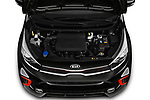 Car stock 2019 KIA Picanto GT Line 5 Door Hatchback engine high angle detail view