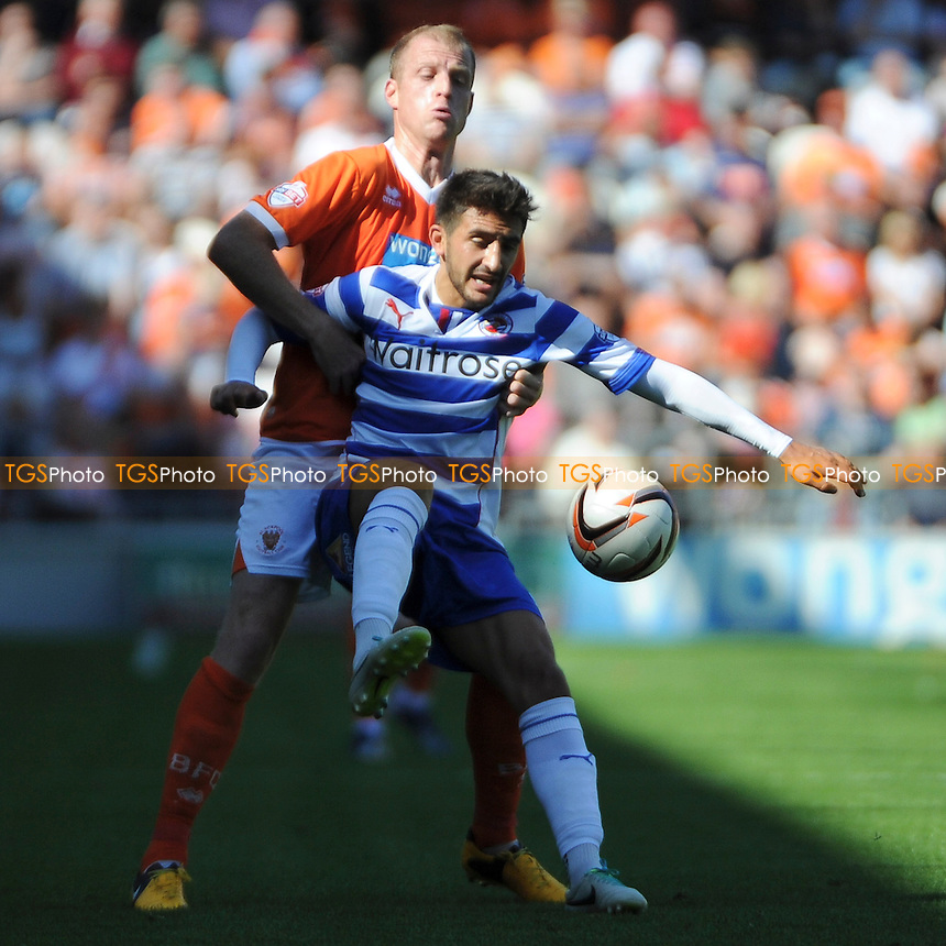 Jem Karacan of Reading tries to control the ball - Blackpool vs Reading - Sky Bet Championship Football at Bloomfield Road, Blackpool, Lancashire - 24/08/13 - MANDATORY CREDIT: Greig Bertram/TGSPHOTO - Self billing applies where appropriate - 0845 094 6026 - contact@tgsphoto.co.uk - NO UNPAID USE