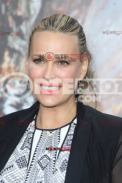 Molly Sims at the film premiere of 'Battleship,' at the NOKIA Theatre at L.A. LIVE in Los Angeles, California. May, 10, 2012. ©mpi20/MediaPunch Inc.