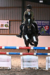 Stapleford Abbotts. United Kingdom. 26 October 2019.Class 7. Open. 1m. Essex hunt north pony club showjumping. Brook Farm training centre. Stapleford Abbotts. Essex. United Kingdom. Credit Garry Bowden/Sport in Pictures.~ 26/10/2019.  MANDATORY Credit Garry Bowden/SIP photo agency - NO UNAUTHORISED USE - 07837 394578