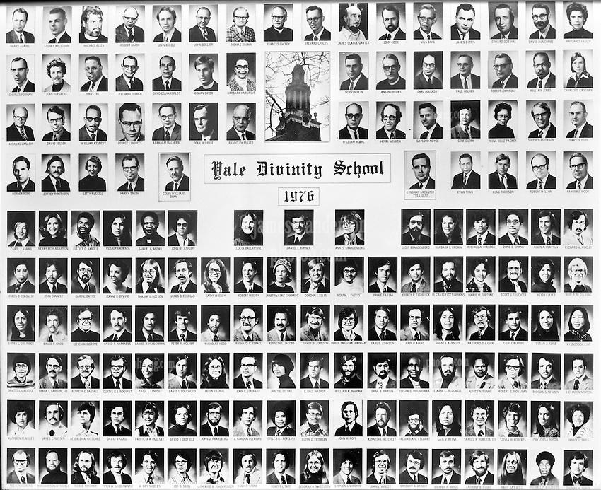 1976 Yale Divinity School Senior Portrait Class Group Photograph