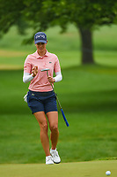 Azahara Munoz (ESP) reacts to barely missing her putt on 1 during round 4 of the KPMG Women's PGA Championship, Hazeltine National, Chaska, Minnesota, USA. 6/23/2019.<br /> Picture: Golffile | Ken Murray<br /> <br /> <br /> All photo usage must carry mandatory copyright credit (© Golffile | Ken Murray)