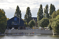 Chiswick. GREAT BRITAIN. 2012 Pairs Head of the River Race, Mortlake to Hammersmith [4000 Meters] River Thames, Championship Course...Description:  Putney Town BC.  Boat house with the new steps up stream from Chiswick Bridge, Crews Preparing to boat and compete in the race...14:29:46  Saturday  13/10/2012..[Mandatory Credit; Peter Spurrier/Intersport-images]  ..