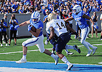 October 1, 2016 - Colorado Springs, Colorado, U.S. -  Air Force running back, Tim McVey #33, powers into the end zone during the NCAA Football game between the Naval Academy Midshipmen and the Air Force Academy Falcons, Falcon Stadium, U.S. Air Force Academy, Colorado Springs, Colorado.  Air Force defeats Navy 28-14 to remain undefeated.