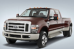 Front three quarter view of a 2008 Ford F350 Crew Cab