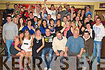 Key to the Door - Cormac O'Connor from Causeway, seated centre having a ball with family and friends at his 21st birthday bash held in McHale's 'Stretford End' Bar on Saturday night........................................................................................................................................ ............