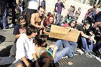 Roma, 8 Ottobre 2010.Manifestazione degli studenti e insegnanti contro la riforma della scuola e i tagli all'istruzione.Rome, October 8, 2010.Protest of students and teachers against the school reform and cuts to education