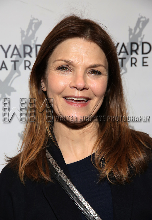 """Kathryn Erbe attending the Opening Night Performance for The Vineyard Theatre production of  """"Do You Feel Anger?"""" at the Vineyard Theatre on April 2, 2019 in New York City."""