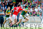 Kevin McCarthy Kerry in action against James Loughrey Cork in the Munster Senior Football Final at Fitzgerald Stadium on Sunday.