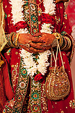 MAURITIUS, the hands of bride Anishtah Hurloll following the ceremony at her Hindu wedding in the town of Surina