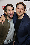 Alex Brightman and guest attends the opening night performance of the MCC Theater's 'Alice By Heart' at The Robert W. Wilson Theater Space on February 26, 2019 in New York City.