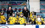 Stockholm 2014-11-16 Ishockey Hockeyallsvenskan AIK - IF Bj&ouml;rkl&ouml;ven :  <br /> AIK:s tr&auml;nare huvudtr&auml;nare Peter Nordstr&ouml;m och assisterande tr&auml;nare Michael Nylander ser nedst&auml;md ut under matchen tillsammans med AIK:s spelare Patric Blomdahl , Marcus Jonsson , Dennis Nordstr&ouml;m och Christian Sandberg <br /> (Foto: Kenta J&ouml;nsson) Nyckelord:  AIK Gnaget Hockeyallsvenskan Allsvenskan Hovet Johanneshov Isstadion Bj&ouml;rkl&ouml;ven L&ouml;ven IFB depp besviken besvikelse sorg ledsen deppig nedst&auml;md uppgiven sad disappointment disappointed dejected tr&auml;nare manager coach