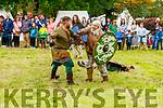 Déise Medieval reenact a battle scene in the Town Park at the Féile na mBláth on Sunday.