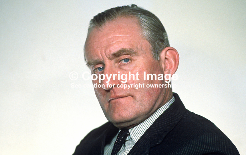 Major James Chichester-Clark, newly-elected Ulster Unionist Prime Minister, N Ireland, 196905010164.<br /> <br /> Copyright Image from Victor Patterson,<br /> 54 Dorchester Park, Belfast, UK, BT9 6RJ<br /> <br /> t1: +44 28 90661296<br /> t2: +44 28 90022446<br /> m: +44 7802 353836<br /> <br /> e1: victorpatterson@me.com<br /> e2: victorpatterson@gmail.com<br /> <br /> For my Terms and Conditions of Use go to<br /> www.victorpatterson.com