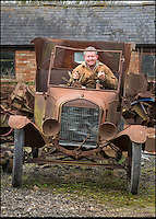 BNPS.co.uk (01202 558833)<br /> Pic: PhilYeomans/BNPS<br /> <br /> Neil with current stock awaiting restoration.<br /> <br /> Garage that time forgot...<br /> <br /> Business is booming at Neil Tuckets time warp garage in the heart of Buckinghamshire - Where you can by any car&hellip;as long as its a Model T Ford.<br /> <br /> Despite his newest models being nearly 90 years old, Neil struggles to keep up with demand with customers snapping up one a week, despite their rudimentary levels of comfort and trim.<br /> <br /> Neil sources his spares from all over the globe and carefully puts the machines back together again.<br /> <br /> 'There like a giant meccano set really, and so beautifully simple and reliable they just won't let you down...You also don't require road tax or and MOT!'