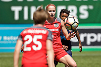 Portland, OR - Saturday July 15, 2017: Tyler Lussi during a regular season National Women's Soccer League (NWSL) match between the Portland Thorns FC and the North Carolina Courage at Providence Park.